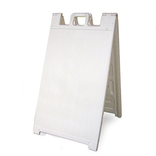 Plasticade Signicade Portable Folding A-Frame Sidewalk Sign - White (Sidewalk Signs Plastic)