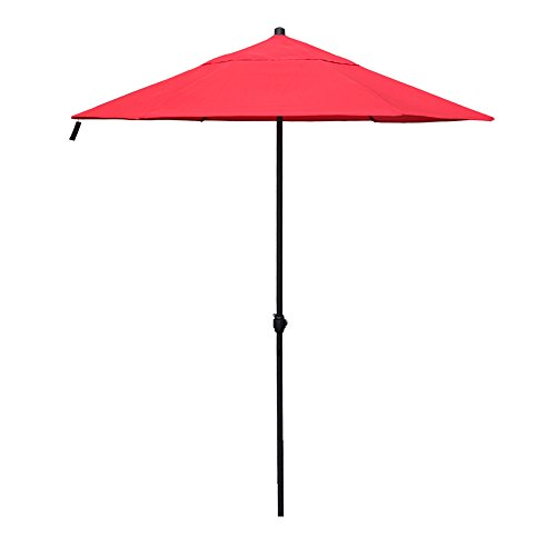 APEX LIVING 7.5 Feet Garden Patio Umbrella Market Outdoor Table Umbrella with Carry Bag Red