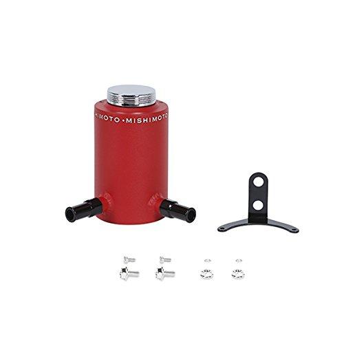 Aluminum Steering System (Mishimoto MMRT-PSAWRD Wrinkle Red Aluminum Power Steering Reservoir Tank)