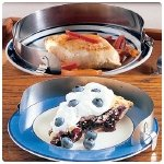 Stainless-Steel Food Guard. Stainless-Steel Food Guard for 9''-11'' Plates, Package of 25