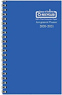 product image for House of Doolittle 2020-2021 Weekly Academic Planner Assignment Book, Blue Vinyl, 5 x 8 Inches, August - August (HOD274RTG26-21)