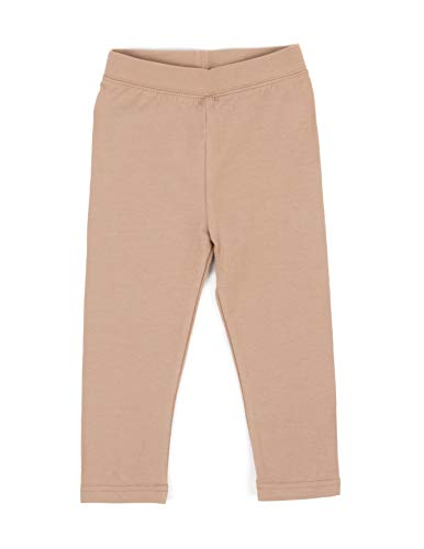 Leveret Solid Girls Legging Beige (8 -