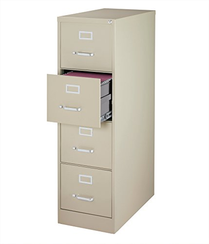 Office Dimensions Commercial 4 Drawer Letter Width Vertical File, 26.5-Inch Deep, Putty