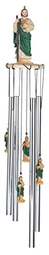 StealStreet Ss-G-41708 Wind Chime Round Top Saint Jude Religious Decoration Holy Porch - Material Jude