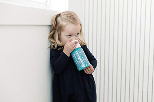 Simple Modern Kids Summit Sippy Cup Thermos 10oz - Stainless Steel Toddler Water Bottle Vacuum Insulated Girls and Boys Hydro Travel Cup Flask -Wild Zoo Purple
