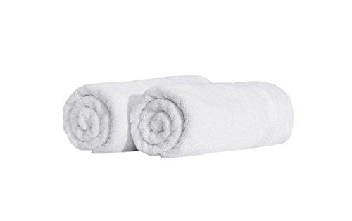 SALBAKOS Turkish Luxury Hotel & Spa 35x70 Bath Sheet Set of 2 (White)