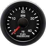 ISSPRO EV² Fuel Pressure 0-40 - R17055 Full Kit, Black Face, Red Pointer, Green Backlight, Black Bezel, Black Hub, Gauge Only