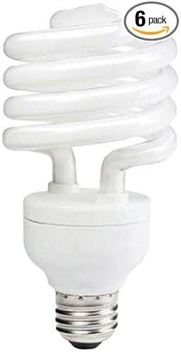 Philips 414078 100 Watt Equivalent Compact Fluorescent Twister Natural White 5000K CFL Light Bulb Philips Lighting 6-Pack