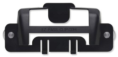 eZpassClip New EZ Pass Holder for New, Small Toll Tag Transponder (Black)