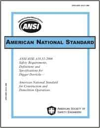 ANSI/ASSE A10.31-2006 Safety Requirements, Definitions