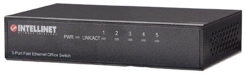 Intellinet 5-Port 10/100Mbps Fast Ethernet Office Switch (Metal) (523301) by Intellinet