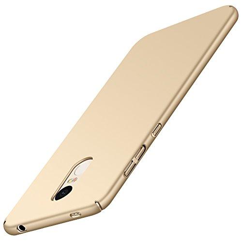 Xiaomi Redmi Note 4X Case, Shockproof Ultra Thin Slim Bumper Anti-Scratch Frosted Matte Hard case Cover Shell Xiaomi Redmi Note 4X (3G/32G) (Gold)