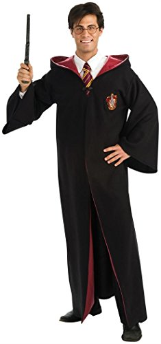 Harry Potter Adult Robe (Deluxe Harry Potter Robe Costume - Standard - Chest Size 42)