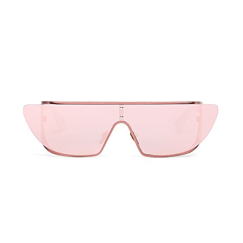 LANKUO Women's Personality Colorful Full Frame Siamese Polarized Sunglasses (pink, - Polarized Test Sunglasses Online