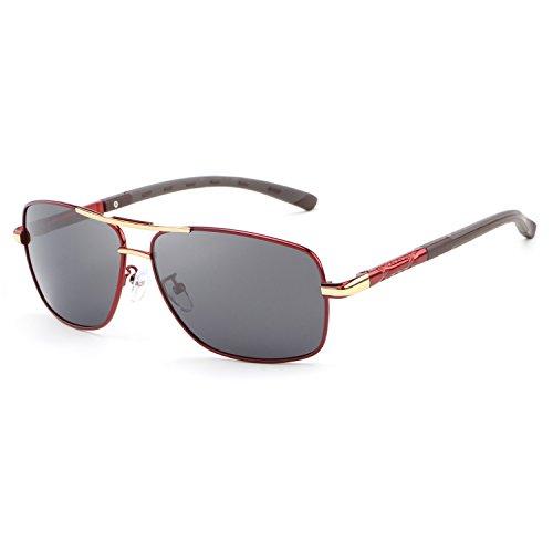 - HDCRAFTER Polarized Sunglasses for Men UV400 Protection Lenses Metal Frame