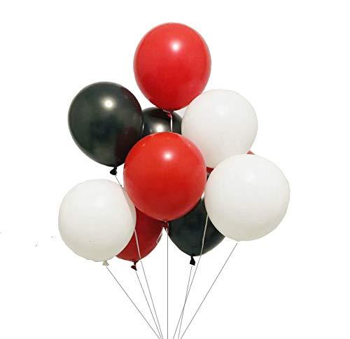 Sorive Latex balloons 100 pcs 3 colors party set ( Black White Red)