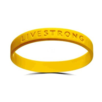Official Live Strong Lance Armstrong Yellow Cancer LiveSTRONG Rubber Wristband Bracelet YOUTH size: Clothing