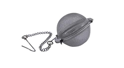 Metaltex 253811 - Filtro de te, Acero Inoxidable con Cadena, 4 5 centimetros