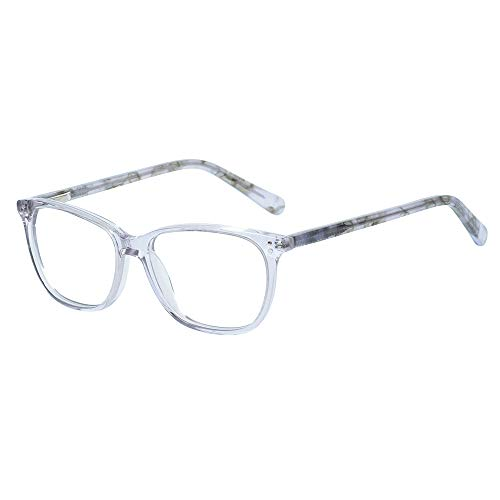 Teens Children Smart Cute Looks Gray Kids Glasses Square Eyewear Frame with Clear Lens for Boys Girls(Age 5-12)]()
