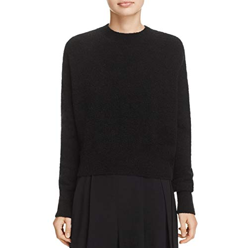 Vince Women's Wool Bouclé Pullover Black Small