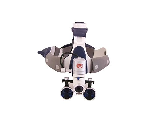 NSKI Dental 2.5X420mm Surgical Binocular Loupes FD-502G + 5W LED Headlight KD202A-7 Headband Stlye by Nski