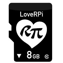 LoveRPi 8GB Raspbian MicroSD Raspberry