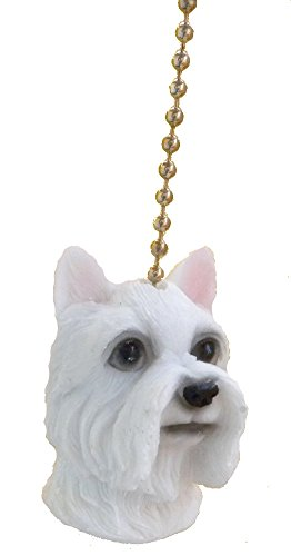 Clementine Design  West Highland White Dog Ceiling Fan Pull