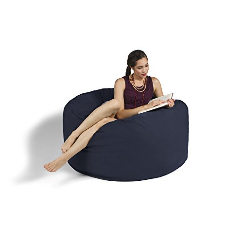 Jaxx Bean Bag Gaming Chair, 4', Navy by Jaxx