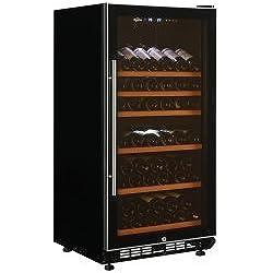 Koolatron WC68DZ Koolatron 68 Bottle Dual Zone Elite Series Wine Cellar, Black/Silver