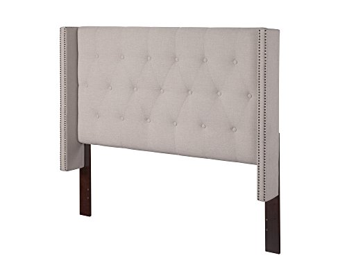 Hadleigh Upholstered Headboard, Queen, Pebble Beach (Headboard Beach)