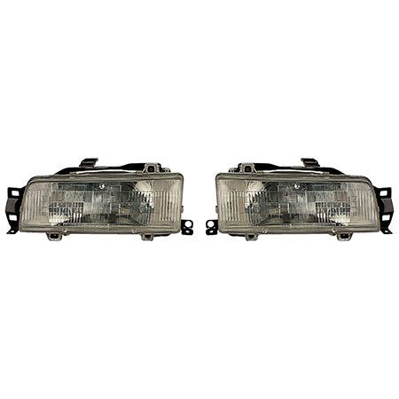 Fits 1988-1992 Toyota Corolla Pair Head Lights Driver and Passenger Side Sedan/4dr wagon; USA/for Canada Built TO2502102 TO2503102 - replaces 81150-02020 81110-02020