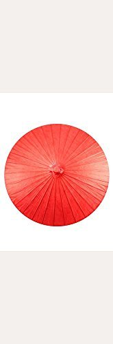 Bamboo Vintage Umbrella (Paper Parasol with Bamboo Boning Style 9167, Red)