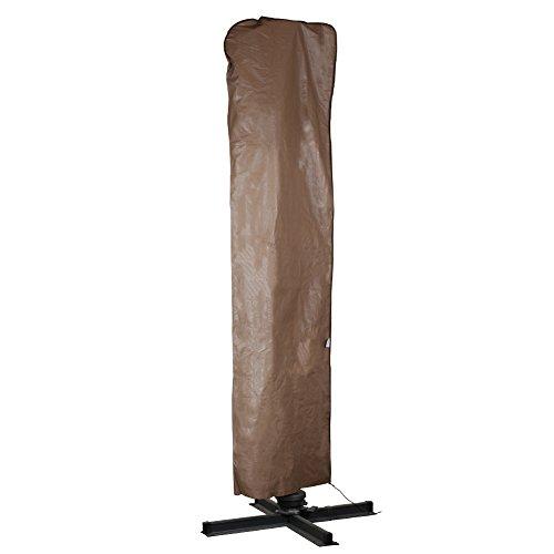 11' Umbrella Cover (Abba Patio Outdoor Market Patio Offset Cantilever Umbrella/Parasol Cover for 9-11 Ft Umbrella, Water Resistant, Brown)