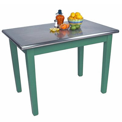 Cucina Americana Moderno Prep Table with Stainless Steel Top Size: 48