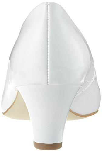 Jenny Women's Granada Closed Toe Heels, White, 4 UK White (Weiss 35)