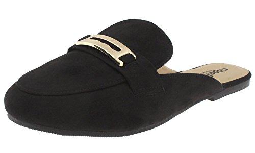 Capelli New York Ladies Flats Black Slide