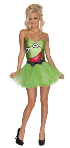 Secret Wishes  The Muppets Kermit Costume Dress, Green, (Sexy Frog Costumes)