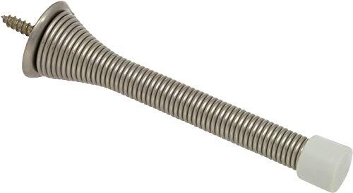 Delaney Hardware 402118 Spring Door Stop 3 3/4'' Satin Nickel