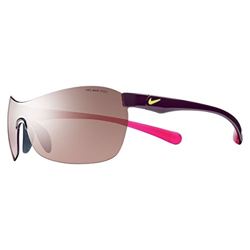 Nike EV0747-605 EXCELLERATE E Sunglasses (One Size), Deep Burgundy/Fuchsia Flash, Max Speed Tint - Lv Womens Sunglasses