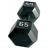 CAP Barbell Solid Hex Dumbbell, Single (65-Pound)