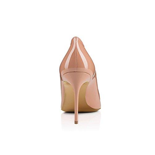 Color y Fiesta Acentuados Mujer XUE Do Un Zapatos Trabajo Estilo Zapatos Formal de Tamaño Tacón Nacional Vestido de Boda Noche Tacones 41 Primavera PU Verano Aguja aqpZf1wq