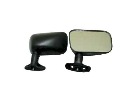 Sports Parts Inc 12-165-10 Deluxe Rectangular Arctic Cat Mirrors - Black