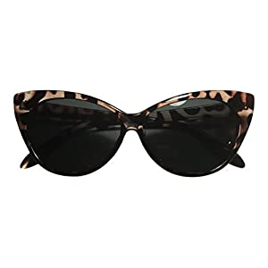 Cute Vintage Tortoise Shell Brown Cat Eye Sunglasses - 400UV Protection - Best Retro 1950's Style Glasses - For Women & Teens -100% Satisfaction Guaranteed