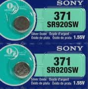 (Sony 371 (SR920SW) 1.55V Silver Oxide 0%Hg Mercury Free Watch Battery (2 Batteries))