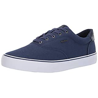 Lugz Men's Flip Sneaker, Navy/White, 7 D US