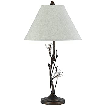 Cal Lighting BO-961TB Pine Twig Table Lamp Fixture, Willow