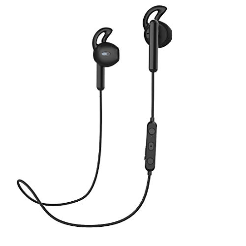 Bluetooth Earbuds,Wireless Headphones, HiFi Bass Stereo in-Ear Earbuds with Mic,Noise Cancelling Bluetooth Headset for Sport (Bluetooth 5.0 & IPX5) (Black)