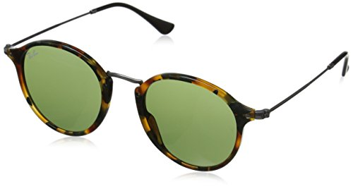 Ray-Ban Acetate Man Sunglass - Spotted Green Havana Frame Green Lenses 49mm Non-Polarized