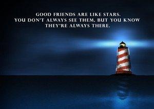 Amazonde Love Gute Freunde Sind Wie Sterne Zitat Leuchtturm
