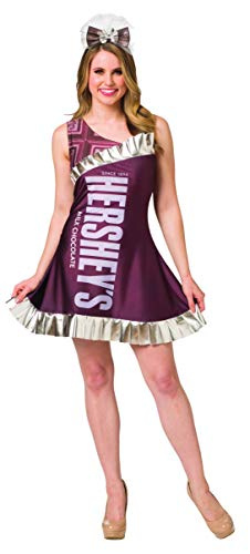 Hershey Kiss Halloween Costumes (Hershey Chocolate Bar Womens Costume Candy Dress Hershey's Outfit Size)